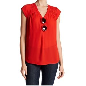 DR2 Pleated Shoulder Blouse NWT